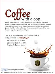 Coffee With A Cop Flyer Coffee With A Cop Fri 7 25 Song Pittsburgh