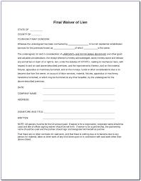 Free Subcontractor Lien Waiver Form Lien Waiver Form Pdf Form Resume Examples Bzljzlklge