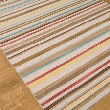 lovely multi color terrestial stripes dhurrie rugs for home accessories ideas