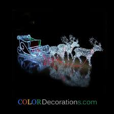 whole best cd ls107 outdoor led light decorations santa reindeer sleigh