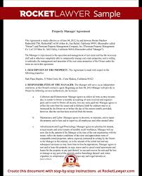 Property Management Agreement Template Rocket Lawyer