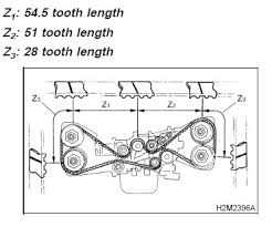 1998 subaru forester a timing belt alignment exhaust crankshaft graphic graphic graphic