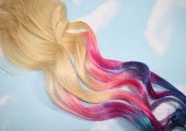Pastel Tie Dye Tips Human Hair