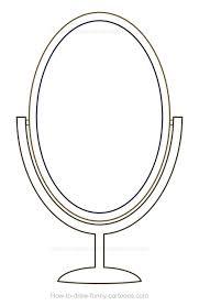 mirror clipart black and white. pin mirror clipart cartoon #1 black and white w