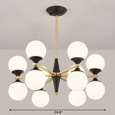 25 inch long 6 8 10 12 light led glass globe chandelier in