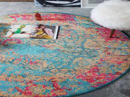 round pink rug. Blue 6 X Palazzo Round Rug Area Rugs Esalerugs - Pink