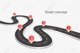 Winding 3d Road Infographic Concept On A White Background Timeline