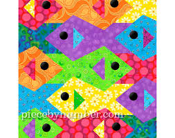 Tessellating Fish quilt pattern paper pieced quilt patterns & 🔎zoom Adamdwight.com