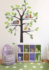 simple vinyl kids nursery shelf tree wall decal kid decals baby room decor bird house home