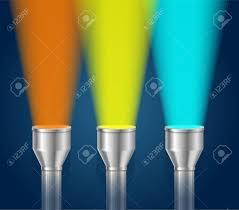 Torch Light Vector Three Colorful Pocket Torch Light Vector Illustration