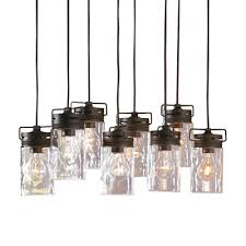 allen roth vallymede 7 7 in olde bronze multi pendant light with clear glass