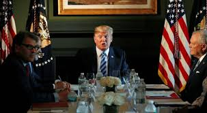 u s president donald trump partites in a roundtable discussion