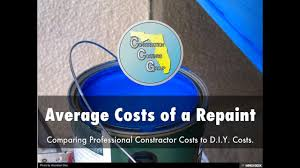 how much does it cost to paint my house average repaint s