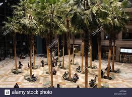 battery garden. the winter garden of world financial center in battery park city, manhattan