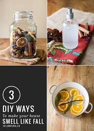 ... making it smell nice. 3 Easy DIY Fall Scents | HelloGlow.co