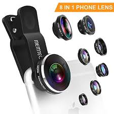 Phone Lens – Cell Phone Camera Lens Kit Universal 8 in 1 Clip on