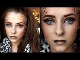 leopard print makeup halloween tutorial