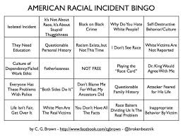 me own bingo autistic edition the caffeinated autistic for instance there is american racial incident bingo