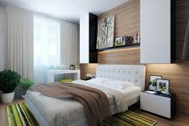 View beige - Wood Wall Small bedroom modern design - Designer Solutions