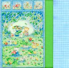 Easy Fabric Panel Quilt Kit Forest Friends Baby Animal Wall Crib ... & Easy Fabric Panel Quilt Kit Forest Friends Baby Animal Wall Crib Quilt -  product images of Adamdwight.com