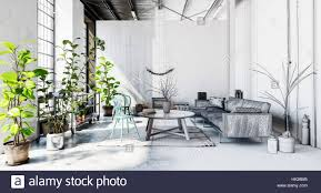 plants for office space. wonderful office office space with sofa coffee table lots of green plants and carpet on  concrete floor in modern business building 3d rendering intended plants for space o