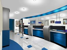 Contemporary Futuristic Bank Office - Interior Design and Architectural  Plan of a Modern Bank