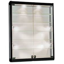 wall mount glass display cabinet