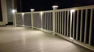 led deck rail lights. Designed To Be Installed Under The Top Rail Of You Railings, These LED Lights Take Only 1 1/2 Watts. Overall Size Is 3 1/2\ Led Deck