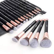 anjou makeup brush set premium cosmetic brushes for foundation blending blush concealer eye shadow free synthetic fiber bristles pu leather roll