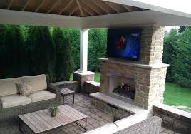 covered porch fireplace patio with and