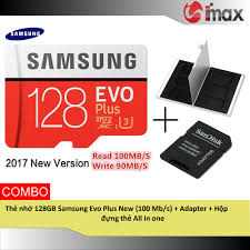 Thẻ nhớ 128GB Samsung Evo Plus New (100 Mb/s) + Adapter + Hộp đựng thẻ All  in one