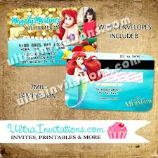 Credit Card Party Invitations Sample Invitation Cards For Graduation Party Little Mermaid Credit