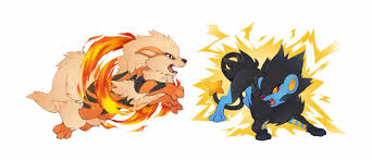 Png Pokemon Luxray Vs Arcanine Transparent Png Download