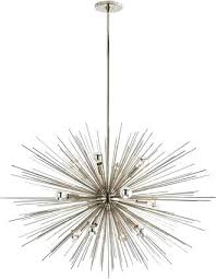 mid century lighting large mid century modern chandelier in polished nickel finish mid century lighting australia