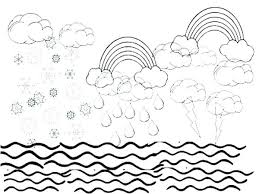 Water Cycle Coloring Pages Printable Water Cycle Coloring Pages