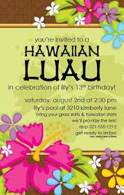 Hawaiian Pool Party Invitations Free Luau Invitations Under Fontanacountryinn Com