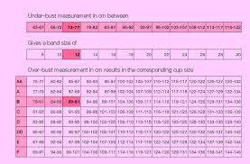 17 Extraordinary Bra And Cup Size Chart