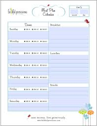 Meal Budget Planner 5 Easy Steps To Meal Planning Faithful Provisions