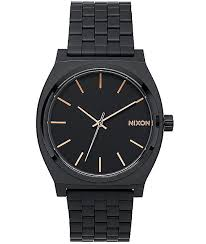 nixon time teller all black rose gold watch at zumiez pdp nixon time teller all black rose gold watch