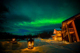 Bear Claw Lights Bear Claw Lodge Northern Lights Heliski Holiday British