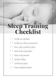 Sleep Training Checklist Grow With Me Mommy