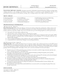 Sample Resume For Retail Cover Letter Sample Resumes Retail