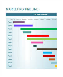 Marketing Timeline Templates 4 Free Word Pdf Excel Format