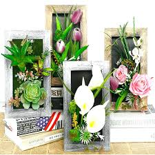 fake plant decor artificial plants decoration stereo artificial flowers wall sticker vintage decorations fake plants wall