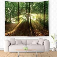 130 150cm 200 150cm green trees forest tapestry home decorative wandkleed polyester forest wall hanging tapestry blanket beach mat tree tapestry wall