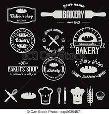 Bakery Logos Design Set Of Vintage Bakery Logos Labels Badges And Design Elements