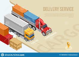 Cargo Web Design Web Design With Delivery Service Information Stock
