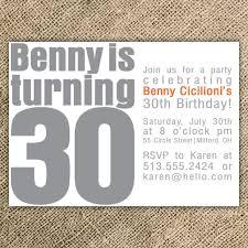 40th birthday invitation templates lovely wording luxury 30th