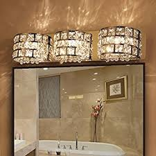 crystal vanity lights for bathroom. modern led clear crystals and stainless steel bath vanity light wall in chrome (3 crystal lights for bathroom r