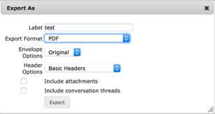 Save/Export - MailArchiva Online Help